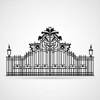 Puerta ornamental aislada