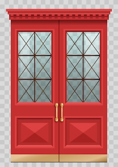 Puerta roja vintage