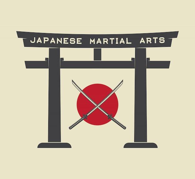 Puerta torii japonesa