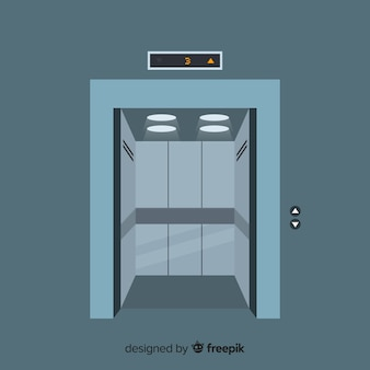 Puertas abertas de ascensor