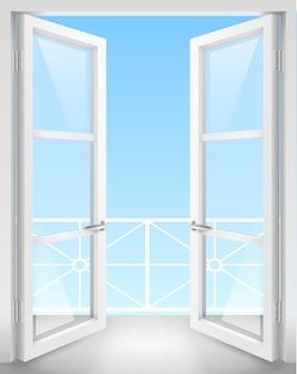 Puertas abiertas blancas