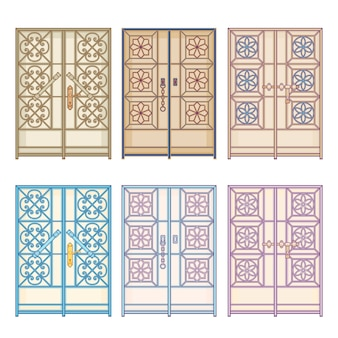 Puertas antiguas antiguas en países del golfo árabe