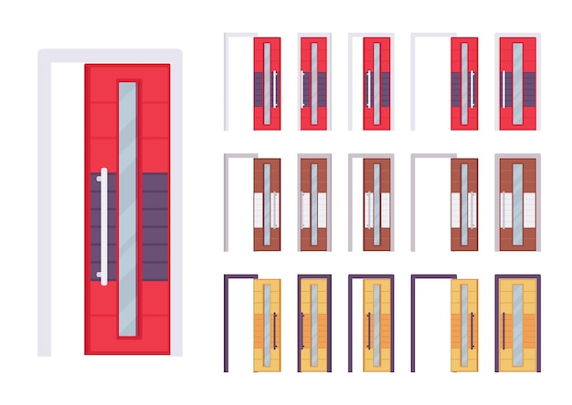 Puertas moderno conjunto luminoso.