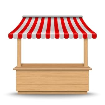 Puesto de mercado de madera