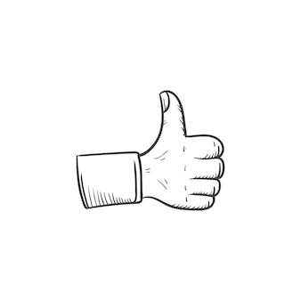 Pulgar arriba ilustración de mano