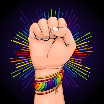 Pulsera colorida del concepto del día del orgullo