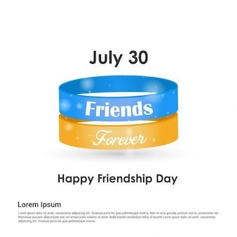 Pulseras para el día de la amistad