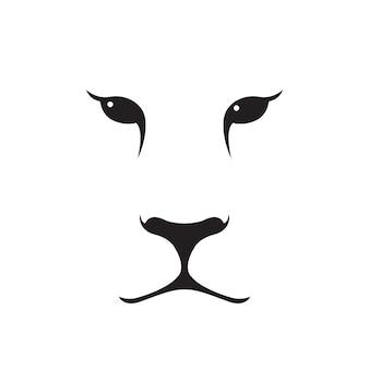Puma hocico silueta.