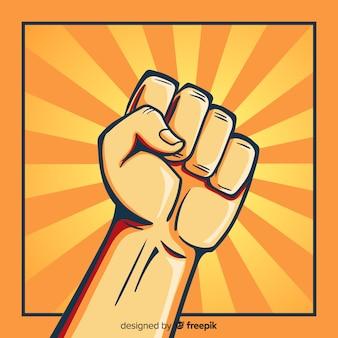 Puño en alto para revolución