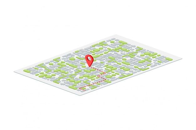 Puntero del mapa isométrico 3d