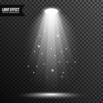 Punto luz iluminación etapa vector transparente