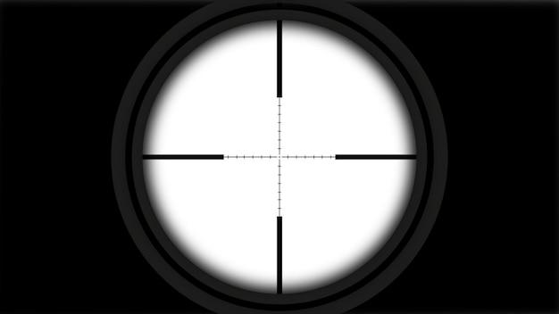 Punto de mira de francotirador realista con líneas