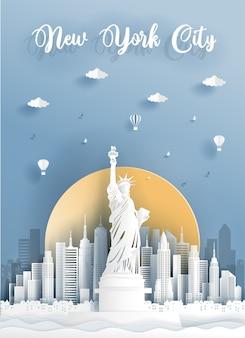 Punto de referencia de la ciudad de nueva york, américa.