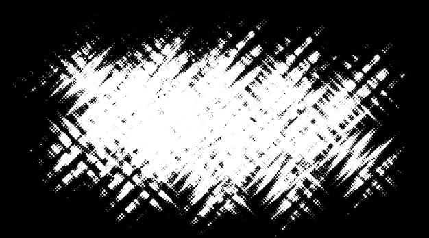 Punto de semitono de grunge. fondo de textura de puntos de círculo blanco y negro.