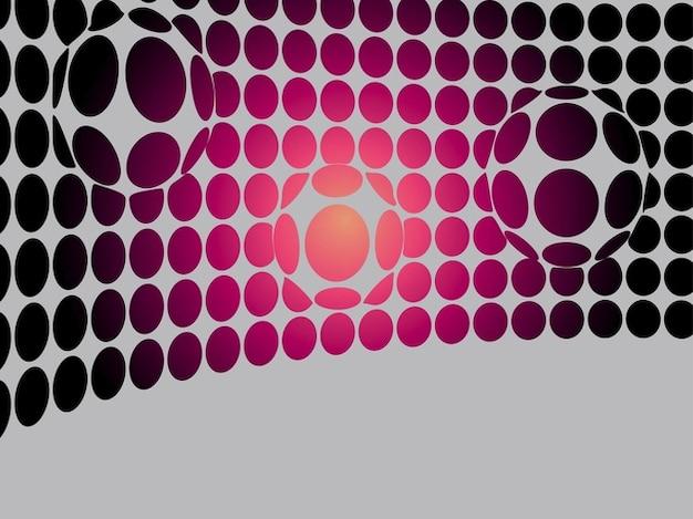 Puntos círculo deformado en paquete de vectores