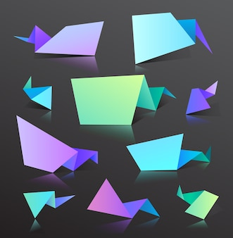 Puntos degradados, burbujas con formas de líneas. elementos abstractos para colores vibrantes de moda. utilice para logotipos, etiquetas, etiquetas, fondo. manchas fluidas, gotas onduladas, elementos fluidos.