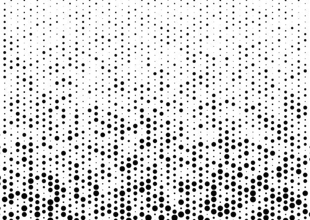 Puntos negros, semitono, patrón, fondo blanco