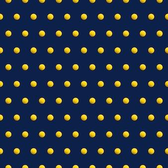 Puntos de oro sobre fondo abstracto de color azul. patrón transparente de vector de belleza