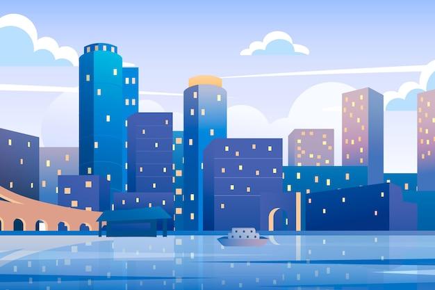 Puntos de referencia de la ciudad - fondo para videoconferencia