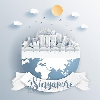 Puntos de referencia de singapur en la tierra