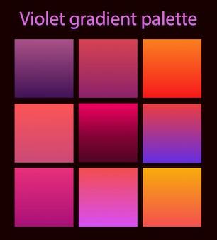 Púrpura moderno conjunto ultravioleta