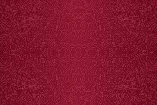 Púrpura de patrones sin fisuras con corazones y rosas
