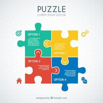 Puzzle infografía