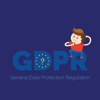 ¿qué es la ilustración de pancarta gdpr?
