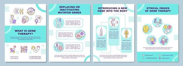 ¿qué es la plantilla de folleto de terapia génica? reemplazo de genes mutados