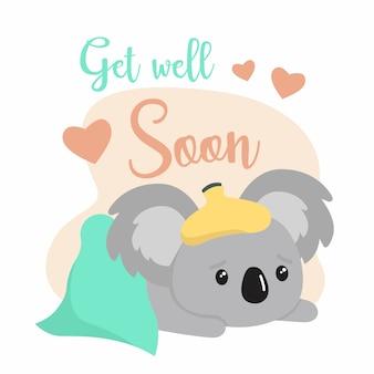 Que te mejores pronto y el oso koala