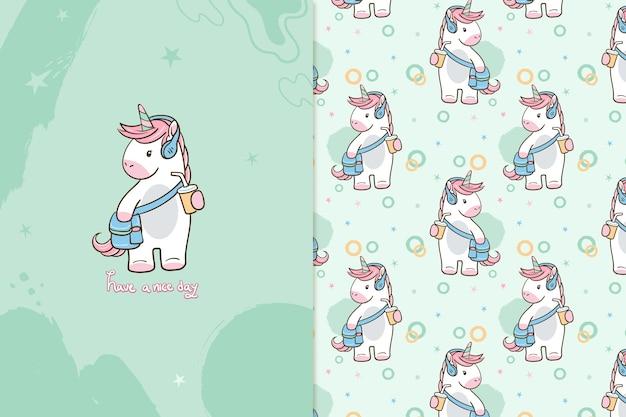 Que tengas un buen día patrón de unicornio