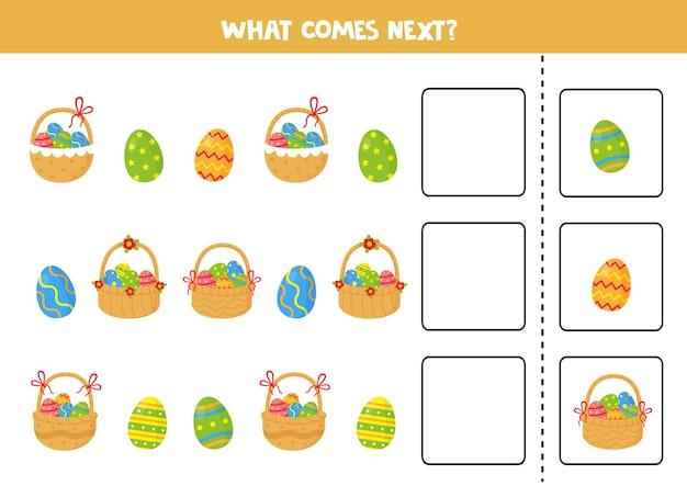 ¿qué viene a continuación con cestas de pascua de dibujos animados y huevos de pascua?