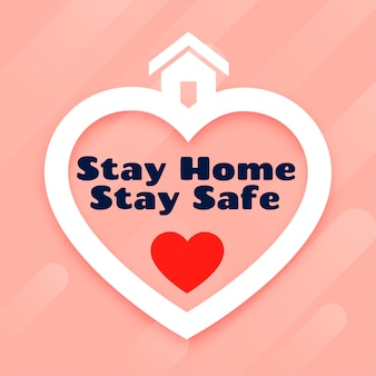 Quedarse en casa y mantenerse a salvo diseño de carteles