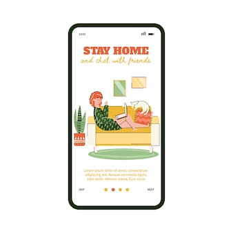 Quédate en casa y chatea con amigos en la aplicación de videollamada en cuarentena