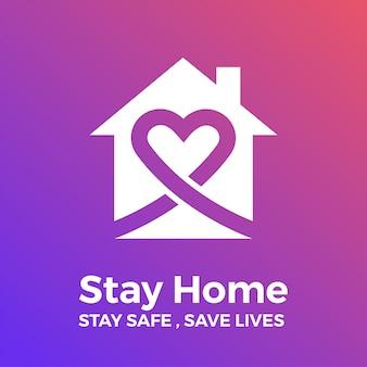 Quédate en casa, mantente seguro