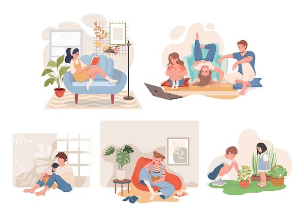 Quédate en casa y pasa tiempo con la familia.