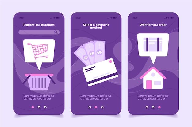 Quédese en casa y compre la aplicación móvil en línea