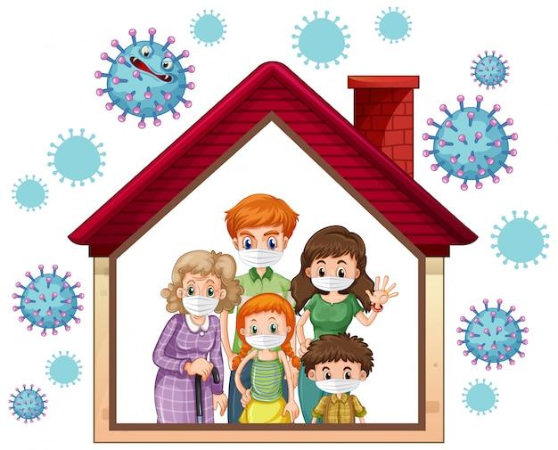 Quédese en casa para prevenir el coronavirus