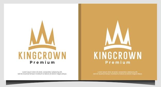 Queen king princess crown royal belleza lujo elegante diseño de logotipo