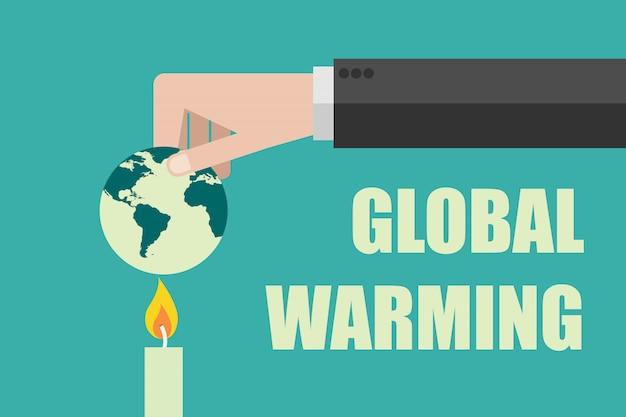 Quemando el mundo, detenga el concepto de calentamiento global