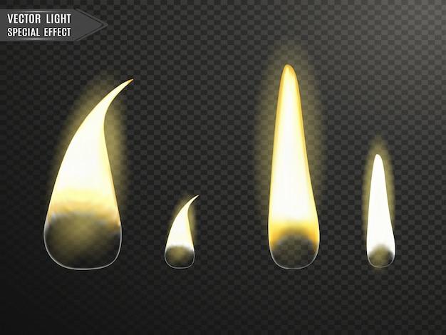 Quemando velas. fuego.