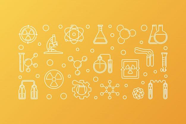 Química nuclear iconos vectoriales