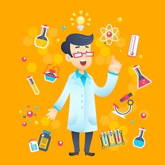 Químico científico personaje