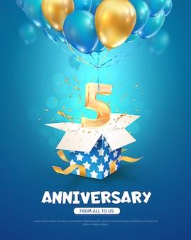 Quinto aniversario celebrando