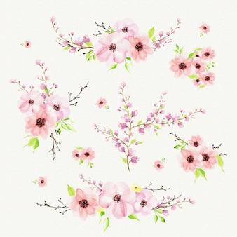 Racimos florales románticos