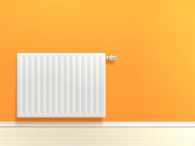 Radiador en la pared