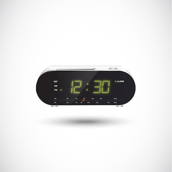 Radio despertador. realista