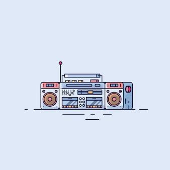 Radio digital ilustraciones de diseño plano