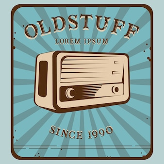 Radio de logo de old stuff