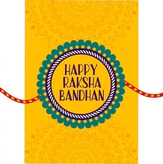 Rakhi tarjeta de festival para feliz raksha bandhan